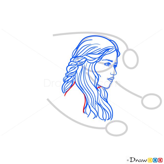 How to Draw Daenerys Targaryen, Game Of Thrones