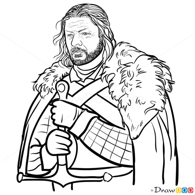 drawing game of thrones How To Draw Eddard Ned Stark Game Of Thrones