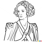 How to Draw Ellaria Sand, Game Of Thrones