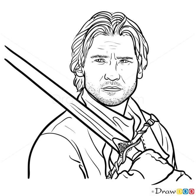 How to Draw Jaime Lannister, Game Of Thrones