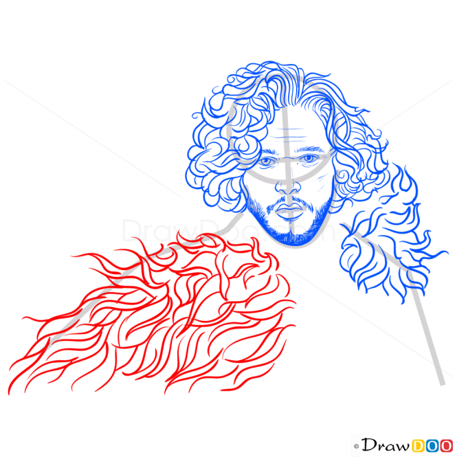 How to Draw Jon Snow, Game Of Thrones