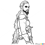How to Draw Khal Drogo, Game Of Thrones
