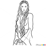 How to Draw Melisandre, Game Of Thrones