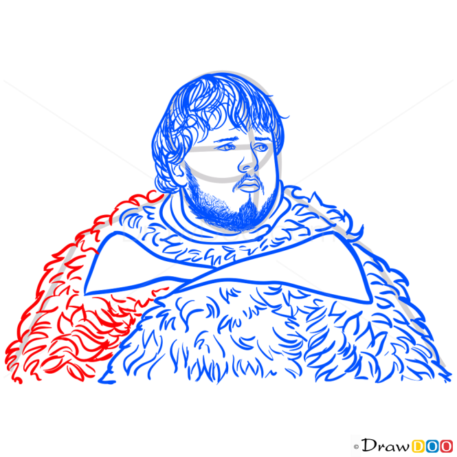 How to Draw Samwell Tarly, Game Of Thrones