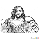 How to Draw Sandor Clegane, Game Of Thrones