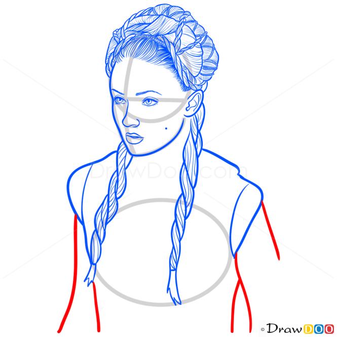 How to Draw Sansa Stark, Game Of Thrones