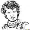 How to Draw Theon Greyjoy, Game Of Thrones