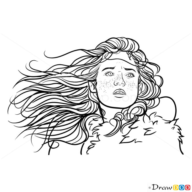 How to Draw Ygritte, Game Of Thrones