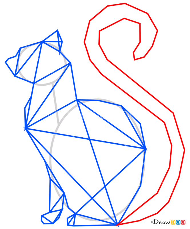 How to Draw Cat, Geometric Animals
