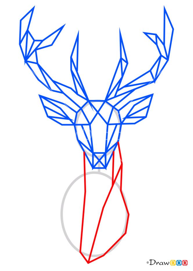 How to Draw Deer, Geometric Animals