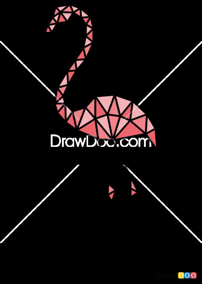 How To Draw Flamingo Geometric Animals