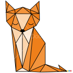 How to Draw Fox, Geometric Animals