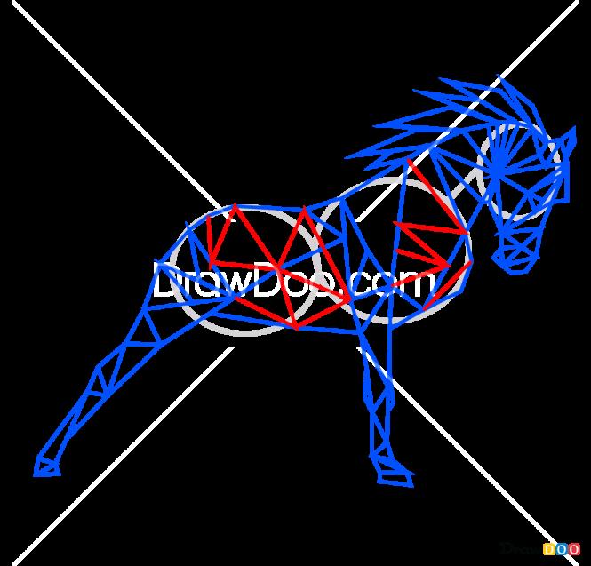 How to Draw Horse, Geometric Animals
