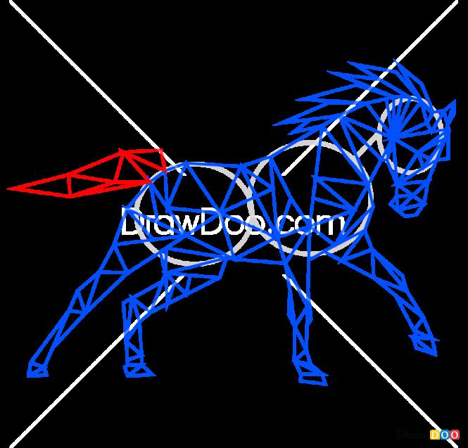 How To Draw Horse Geometric Animals