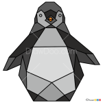 How to Draw Penguin, Geometric Animals