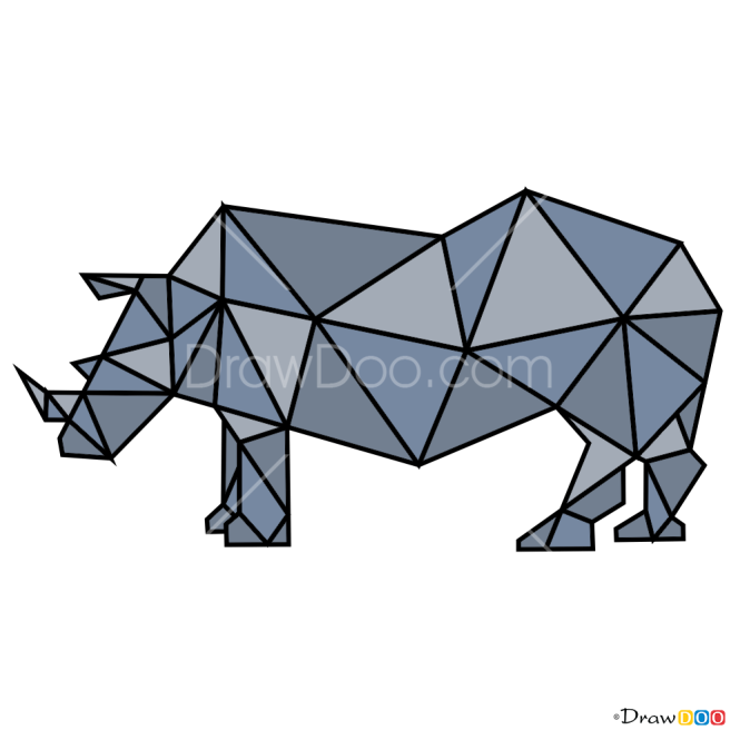 How to Draw Rhino, Geometric Animals