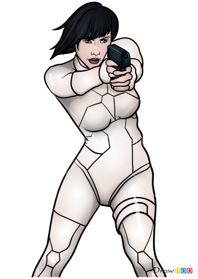 How to Draw Major, Ghost in the Shell