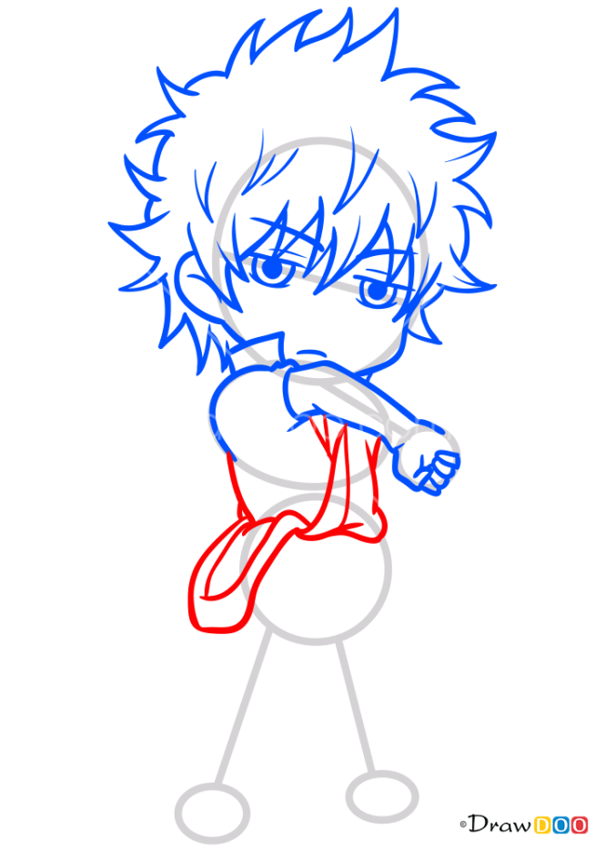 How to Draw Sakata Gintoki Chibi, Gintama