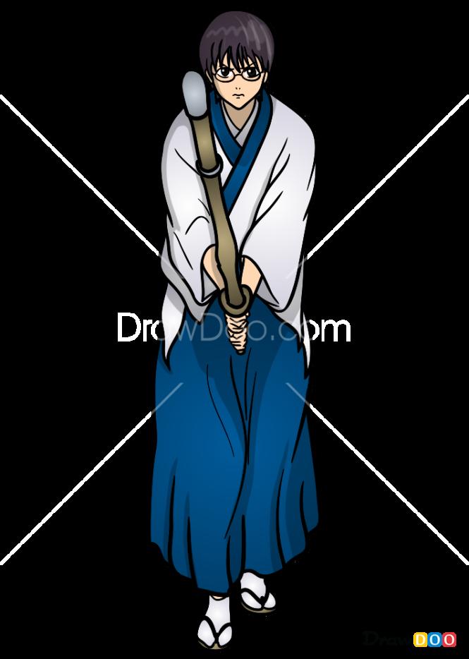 How to Draw Shimura Shinpachi, Gintama