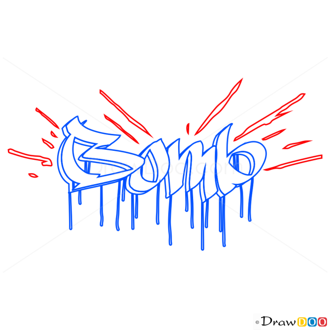How to Draw Bomb, Graffiti