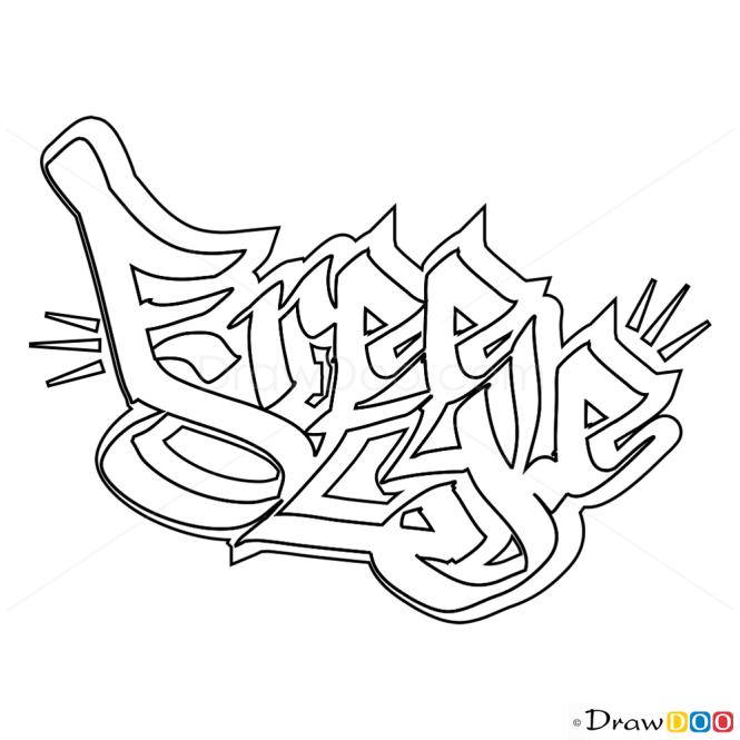 Grafiti Coloring Page