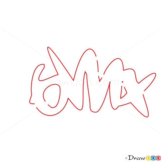 How to Draw BMX, Graffiti