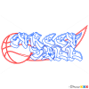 How to Draw Streetball, Graffiti