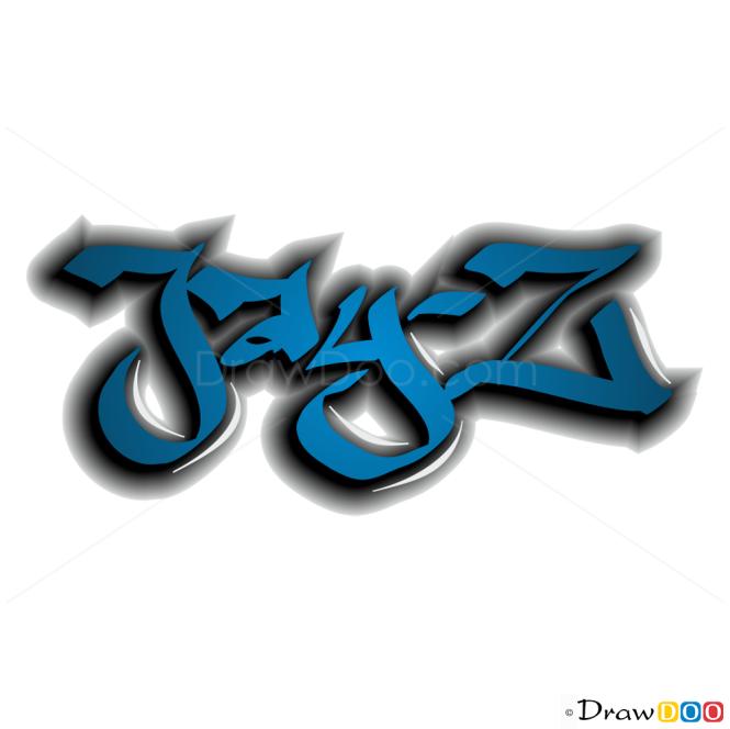How to Draw Jay-Z, Graffiti