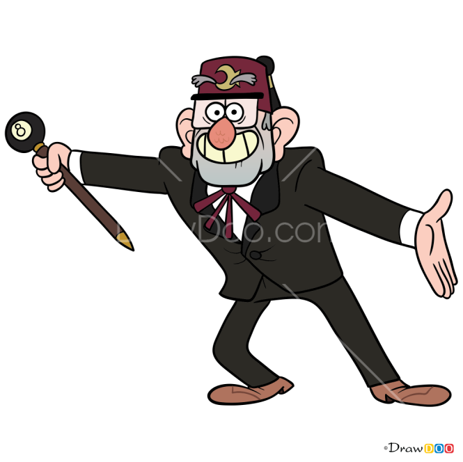How to Draw Grunkle Stan, Gravity Falls