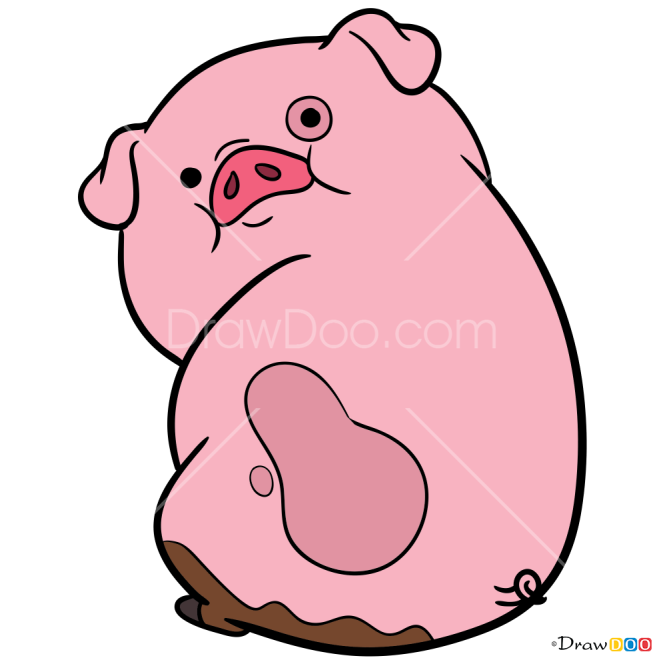 How to Draw Waddles, Gravity Falls