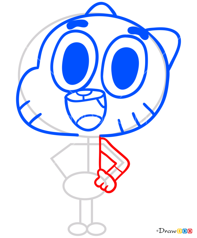 How to Draw Gumball Watterson, Gumball