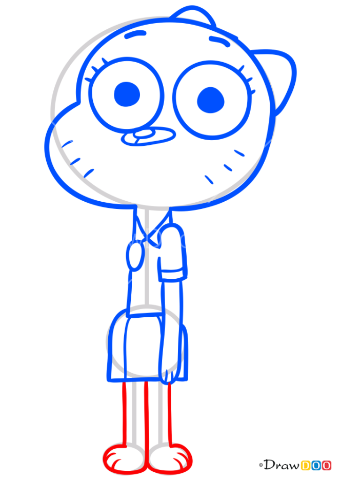 How to Draw Nicole, Gumball