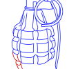 How to Draw Grenade, Guns and Pistols