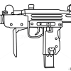 How to draw uzi guns and pistols