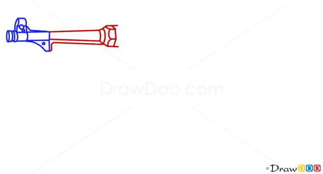 how to draw a cartoon mp40