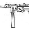How to Draw MP40, Guns and Pistols