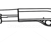 How to Draw Mossberg 590, Guns and Pistols