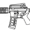 How to draw colt m4 guns and pistols