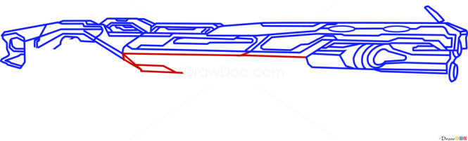 How to Draw Pulse Canon, Guns and Pistols