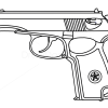 How to draw makarov pistol guns and pistols