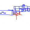 How to Draw SVD-S Dragunov, Guns and Pistols