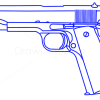 How to Draw Colt M1911, Guns and Pistols