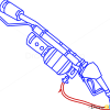How to Draw Flamethrower, Guns and Pistols
