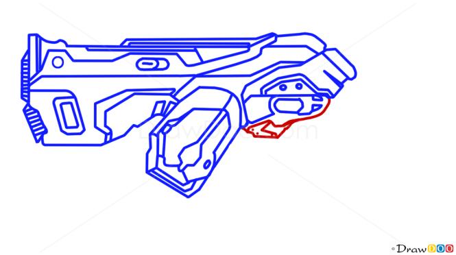 How to Draw Plasma Gun, Guns and Pistols