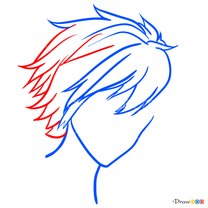 How to Draw Anime Haircut, Hairstyles