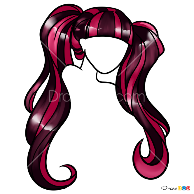 How to Draw Draculaura s Tails, Hairstyles