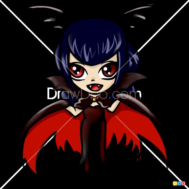 How to Draw Lady Vampire, Halloween