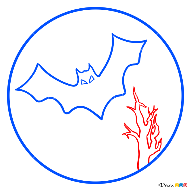 How to Draw Night Moon, Halloween
