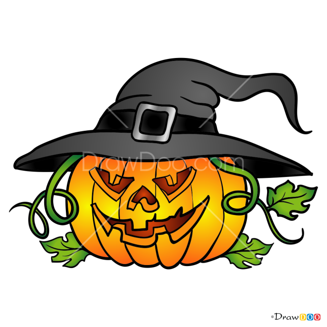 How to Draw Halloween Pumpkin, Halloween