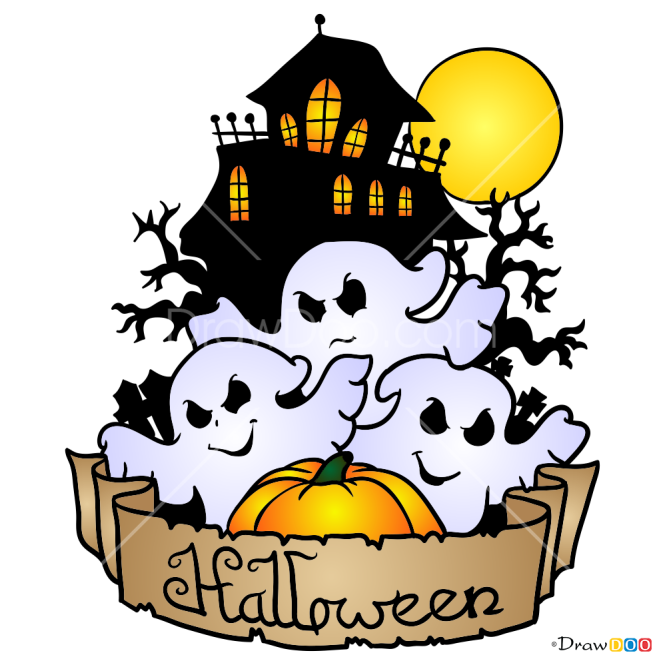 How to Draw Halloween Ghosts, Halloween